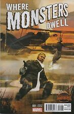 WHERE MONSTERS DWELL #1 1:25 ALEX MALEEV VARIANT COVER! SECRET WARS! NEAR MINT