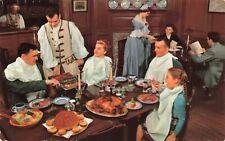 Postcard Ephemera King's Arms Tavern Williamsburg Virginia Colonial Times USA