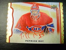 2014/15 UPPER DECK MASTER PIECE PATRICK ROY RED INK AUTO SSP 1/15 E-BAY 1/1 LQQK