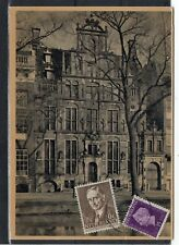 NETHERLANDS = 1948 Used PPC to AURORA, ILL. `HAARLEM STATION` cancel. (f)