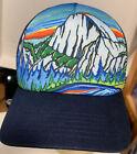 Sunday Afternoons Trucker Hat, Mesh, Snapback Cap Mountains Artist Chris Herbst