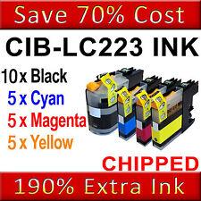 25 Ink Cartridge For Brother LC223 MFC-J5620DW J4420DW J5320DW J4625D J4620DW