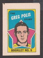 1971-72  TOPPS / OPC  BOOKLET   # 9  GREG POLIS   INV  J5685