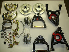 1964 1972 chevelle front disc and tubular control arm set extra set d52 pads