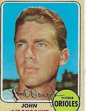 JOHN O'DONOGHUE SIGNED 1968 TOPPS #456 - BALTIMORE ORIOLES