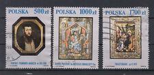 Polen Briefmarken 1991 Gemälde Nationalmuseum Krakau Mi.Nr.3306+8+10 gestempelt