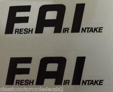 Yamaha FZR600 FZR750 FZR1000 F.A.I. ingesta de aire fresco calcomanías de advertencia de precaución X 2