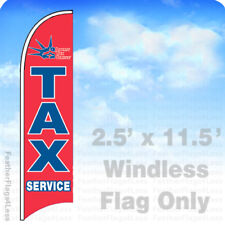 LIBERTY TAX SERVICE - WINDLESS Swooper Feather Flag 2.5x11.5' Banner Sign - rb