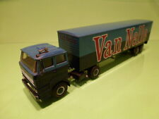 LION CAR 58 36 DAF 2800 TRUCK + TRAILER - VAN NELLE - TWOTONE BLUE 1:50 - GOOD