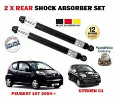 FOR PEUGEOT 107 + C1 1.0 1.4 HDI 2005->NEW 2 X REAR SHOCK ABSORBER SHOCKER SET