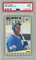 Ken Griffey Jr 1989 Fleer #548 RC Rookie (Mariners) HOF PSA 9 MINT