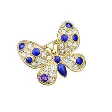 Spilla da Donna Cristallo SwarovskiI elements Farfalla Blu SP46