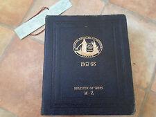 Lloyd's Register of Shipping ~ Register of Ships M-Z 1967-1968 LARGE RARE BOOK