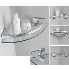 Aluminum Corner Shelves Wall-Mounted Triangle Single Bathroom Glass Shelf 254