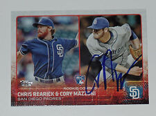 CORY MAZZONI SIGNED AUTO'D 2015 TOPPS CARD #US194 SAN DIEGO PADRES