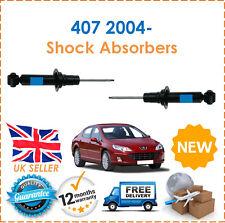For Peugeot 407 2004- 2 Rear Shock Absorbers Set Shockers Dampers Pair New