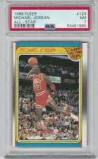 HT: 1988 Fleer Basketball Card #120 Michael Jordan All Star Chicago Bulls  PSA 7