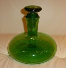 VINTAGE BLENKO GLASS GREEN DECANTER