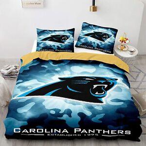 Carolina Panthers Bedding Set Duvet Cover & Pillowcase 3PCS Quilt Cover Sets
