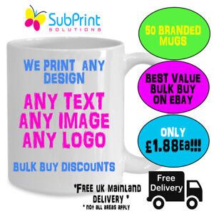 Company Branded Business Logo Promo Mug,Mugs ,Any Image,Logo,text - 50 mugs