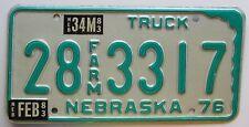 Nebraska 1983 HAMILTON COUNTY FARM TRUCK License Plate SUPERB QUALITY # 28 3317