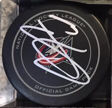 SIGNED AUTO OFFICIAL NHL GAME PUCK COLUMBUS BLUE JACKETS SETH JONES
