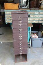 Antique G&S Metal Watchmaker's Cabinet w/Bezel Press Watch Making Parts & Cystal