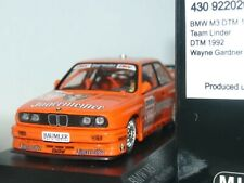 WOW EXTREMELY RARE BMW M3 E30 SE DTM 1992 # Gardner Jagermeister 1:43 Minichamps
