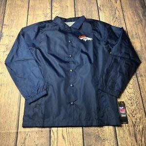 NFL Youth Boys Large 14/16 Denver Broncos Bravo Coaches Windbreaker Jacket NEW
