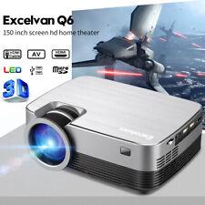 Portable LED HD 1080P Multimedia Projector 5000 Lumens Home Cinema VGA AV USB TF