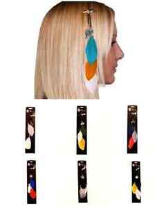 NFL Feather Team Hair Clips - Choose Your Team