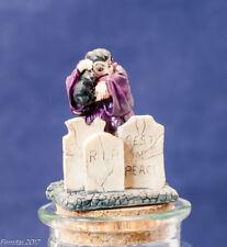 Wicked Colorful Halloween Dracula Cat RIP Candy Glass Jar Seasonal Decor  New
