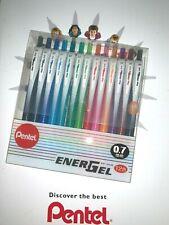 Pentel EnerGel Pen 0.7mm BL437 12 pcs gel pens.Retractable 12 color set.