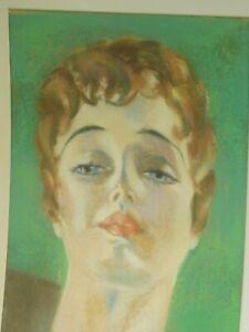 Vintage Illustrator Painting Pinup Beauty 1920s Redhead Flapper Witt Original