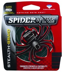 Spiderwire SCS15G-125 Stealth Braided Line 15/4lb/Dia 125yd Filler Spool Moss Gr