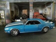 1:18 DieCast 1968 Camaro Lemans Blue. Exact Detail with box. GREAT SHAPE