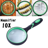 High Definition 10X Handheld  Magnifier Magnifying Glass Reading Jewelry LoupeTR
