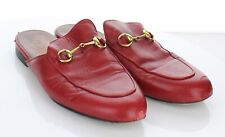 22-28 $695 Women's Sz 39 M Gucci Princetown Leather Bit Loafer Mule In Red