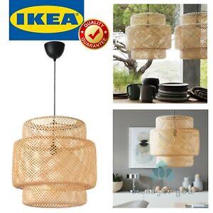 IKEA SINNERLIG Bamboo Lattice Pendant Lamp Handmade