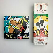 Disney Jigsaw Puzzle Mickey Mouse / Donald Duck - 2 Pack 100 Pc & 300 Pc, NEW