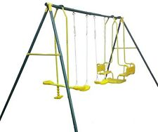 Hurricane Sleep Well Tonight Swing Set NEW Kids Boat Glide and 2 Single Swings