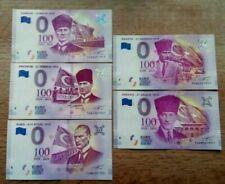 5 x 0 Euro ATATURK - Turkey - set of the 100 Year Anniversary - Ataturk