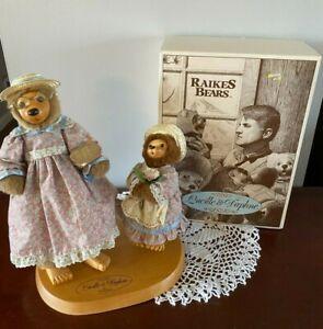 Raikes Originals -1991 - Lucille & Daphne - In Original Box with Doll Stand
