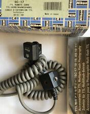 Nikon SC-17 off camera flash cable cord TTL remote speedlight box & instructions