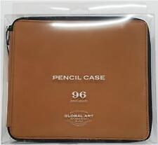 GlobalArt - Leather 96 Pencil Capacity Case - Saddle Brown