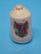 """Carlton WWI Crested China Kit Bag """"Put all your troubles..."""" - Kingstown"""