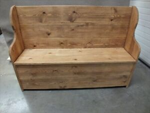 5' RECLAIMED MONKS BENCH/ SETTLE/ PEW /HAND MADE RUSTIC BESPOKE