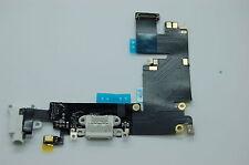 Iphone 6 Plus Bianco Porta di Ricarica USB Connettore Dock Cavo Flex con Microfo
