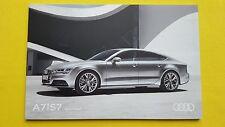 AUDI a7 s7 Sportback se Nero S LINE opuscolo catalogo Ottobre 2016 Nuovo di zecca A 7