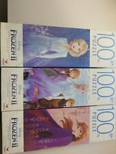 Lot of 3 New Frozen 2 100 PC Jigsaw Puzzles Disney Movie